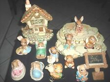 Figurines 15 PenDelfin Rabbit Collectibles and Easel Made in England Vintage