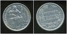 POLYNESIE francaise 1 franc 1986  ( bis )