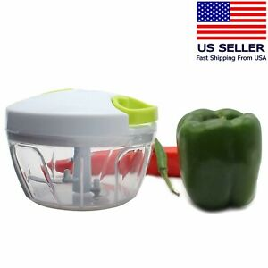 Multi-Functional Manual Food Chopper Compact Hand Held Vegetable Dicer Mincer
