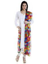 Women Girls Printed Chiffon Dupatta Tippet Scarf Traditional Wear