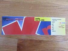 NASCAR Winston Racing MICHIGAN SPEEDWAY June 13, 1999 Ticket Stub