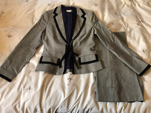 Whistles Grey Trouser Suit Size 10