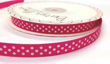 3 M Bertie's Bows Cereza Rosa con Blanco Polka Dot 9 mm cinta de grogrén, Envoltura