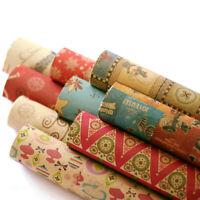 50*70CM Weihnachten Geschenkpapier Retro Style DIY Neujahr Geschenkverpackung