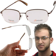 Super Flex Titanium Half Rim Glasses Super Flexible Eyeglass Frames