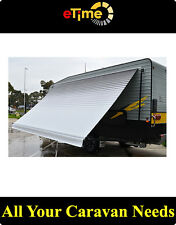 """Aussie traveller Awning 10"""" Caravan Motohome Charcoal Awning, black hardware"""