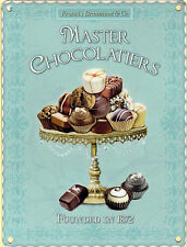 New 15x20cm Master Chocolatier chocolate small metal advertising wall sign