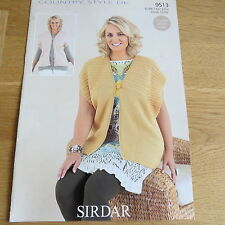 Sirdar Country Style DK Pattern No. 9513 - Cardigan