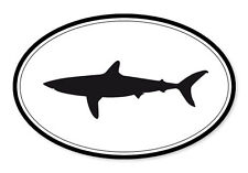"Shark Oval car window bumper sticker decal 5"" x 3"""