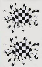 Rally Car Racing Chequered Flag Splat Stickers Large #4