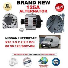 FOR NISSAN INTERSTAR X70 1.9 2.2 2.5 DCi 80 90 120 2002-ON NEW 125A ALTERNATOR