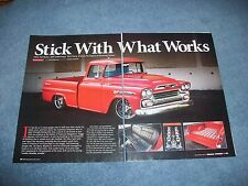 "1959 Chevy 3100 Apache RestoMod Article ""Stick with What Works"""