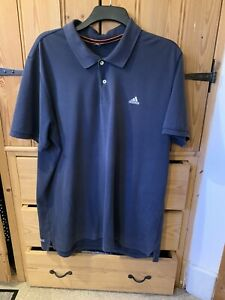 MENS BLUE ADIDAS POLO SHIRT T-SHIRT TOP SIZE XL GREAT CONDITION