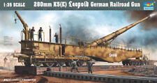 Trumpeter 9360207 Eisenbahngeschütz Leopold K5 (E) 1:35 Kanone Modellbausatz