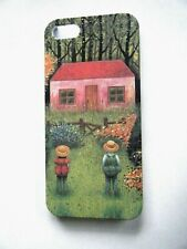 For Apple iphone 5 Cell Phone Cover Country Scene Boy Girl Cottage Multi Color