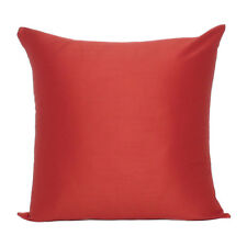 Cover Solid Color Sofa Pillow Case Cushion Square Home Decor Soft Red Size 18x18