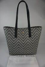 Authentic Michael Kors Junie Admiral and Optic White Large Tote----NWT $328