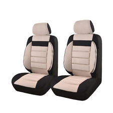CAR PASS Two Front Car Seat Covers Set - Black/Beige (ZT00102)