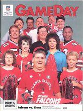 Atlanta Falcons Detroit Lions 12/27/87 GameDay Program Gerald Riggs Buddy Curry