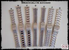 Bracciali in acciaio per orologi: 18 - 20 - 22 - 24mm ENTRATE!!!