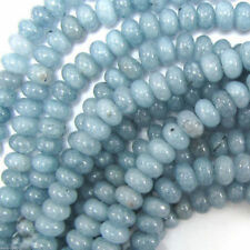 Natural 5X8mm Aquamarine Jade Gemstone Abacus Loose Beads 15Inch Y1753