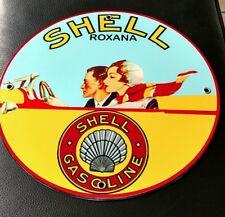 Shell Roxana Gas Oil gasoline sign
