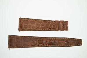 OMEGA NOS Vintage Leather Watch Strap Brown 20/14 20mm (B200)