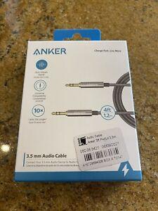Anker 4ft PowerLine 3.5mm Aux Audio Cable - Black