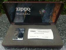ZIPPO, FREECLIMBER, HANDMADE, 900 SILVER, LIMITED EDITION ((EXTREMELY RARE))