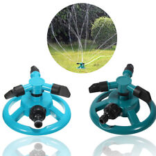 Garden Rotating Sprinkler 3-Arm Fitting Hose Outdoor Water Spray Sprinkle Garden