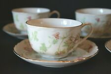 5 - Hutschenreuther Maple Leaf Tea Cups & Saucers Bavaria Germany Coffee