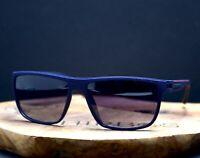 OGA 3580O by Morel France Polarised Sunglasses Blue Matt Frame Violet Lenses