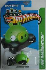 Hot Wheels angry birds Minion verde nuevo/en el embalaje original us-card juguetes mattel HW coche car