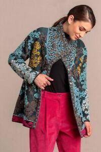 Ivko Weste Black Blau Wolmisschung Jacquard jacket 95 cm 202510 S-XL sale
