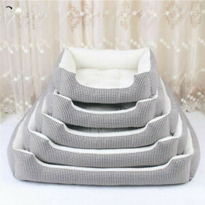 Dog Beds For Large Dogs Fleece Warm Kennel Plush Beds S- XXL Size Bed