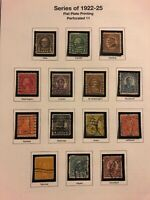 US 20th Century stamp collection 1922-1932 12 album pages Used H Low Price!