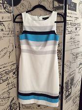 White House Black Market White Striped Dress Size 0