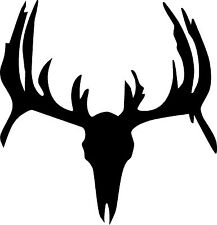 Deer hunting decal 3x3 auto truck suv trailer hunt club humor rack Silhouette