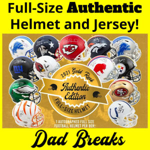 INDIANAPOLIS COLTS signed Gold Rush AUTHENTIC Full-Size Helmet +Jersey BOX BREAK