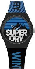 Superdry Mens Black Silicone Strap & Black Dial Watch SYG255EU