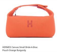 Hermes Canvas Travel Pouch Case