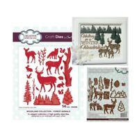 Forest Animals Metal Die Cut Set Sue Wilson Cutting Dies CED3095 Trees Deer