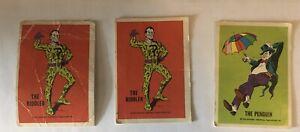 LOT OF 3 Warner Bros National Periodical Publications cards Riddler Penguin 1974