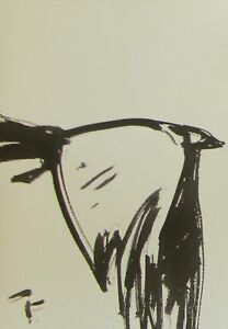JOSE TRUJILLO - ABSTRACT EXPRESSIONISM INK WASH MINIMALIST FLYING BIRD SIGNED
