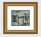 "Maurice de Vlaminck, ""Sailboats on the Seine"" - Signed Lithograph"