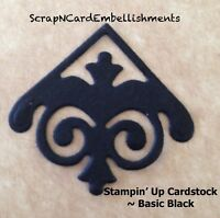• • • Die Cuts ~ SCROLL CORNER x20 Black ~ Stampin Up C/S ~ Cards ~ Scrapbooking