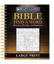 Brain Games Large Print Bible Find a Word (Spiral Bound, Comb or Coil)