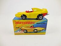Matchbox Superfast 58 Woosh N Push Yellow Red Interior Mint in I Box
