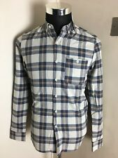 BNWT Topshop Blue White Check Checked LS Shirt XS RRP £30