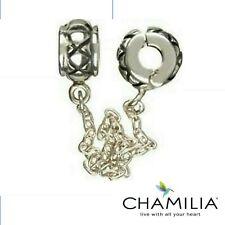 Genuine Chamilia retired sterling silver 925 XX charm bracelet safety chain